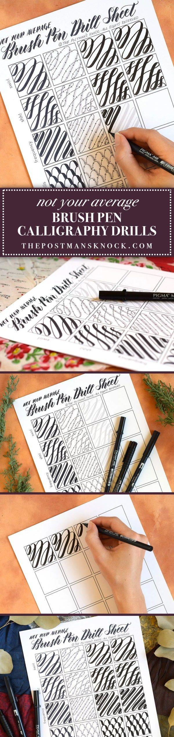 Not Your Average Brush Pen Calligraphy Drills