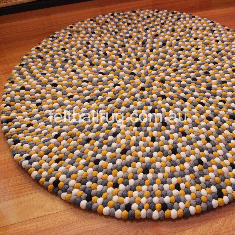 Beehive Felt Ball Rug