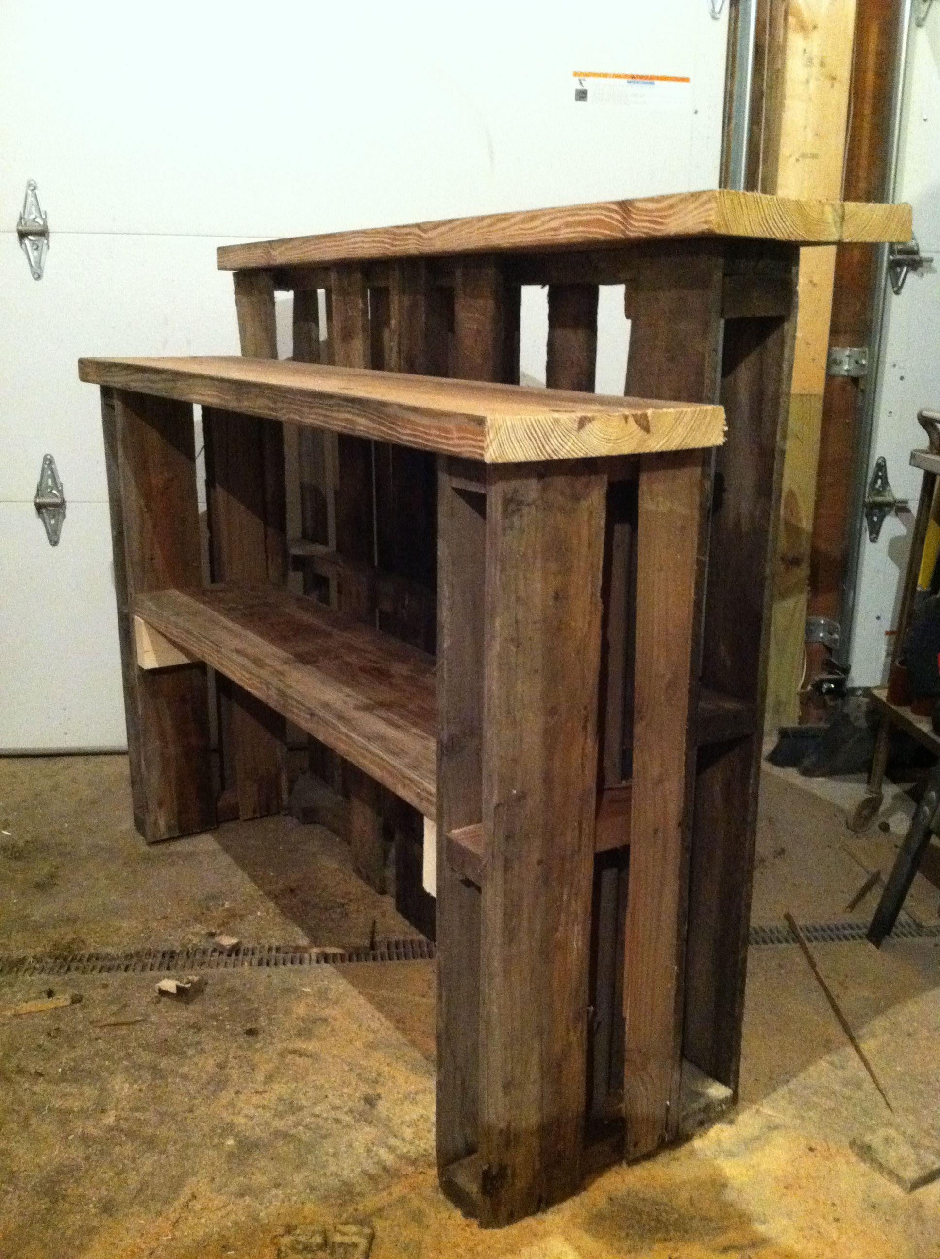 My newest Pallet Bar storage side!!!