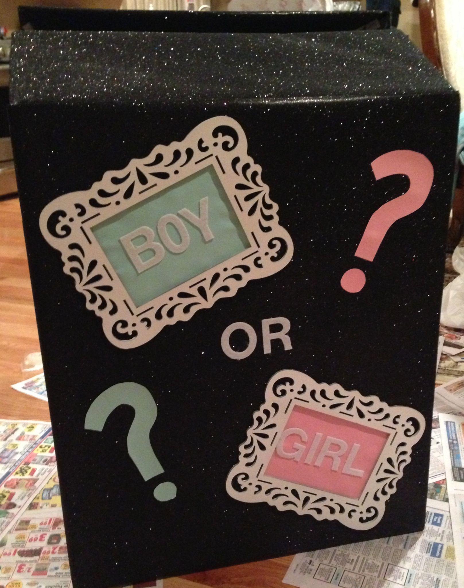 Gender reveal box-Jarrod and Jessica:-))))