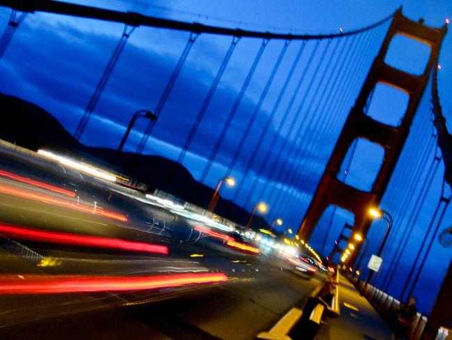 Dusk on the Golden Gate Bridge, by Lindsay Davis