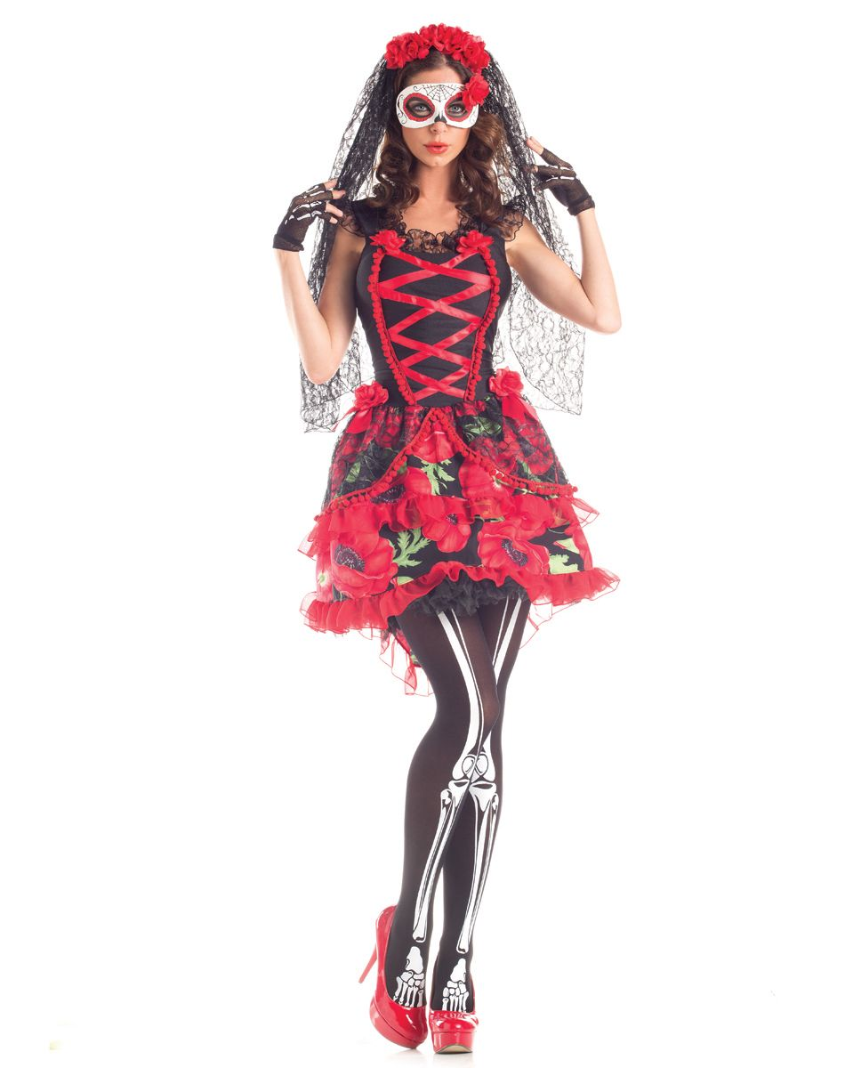 283337a336b0 Day of Dead Senorita costume * I would paint my face instead of wearing the  mask though*