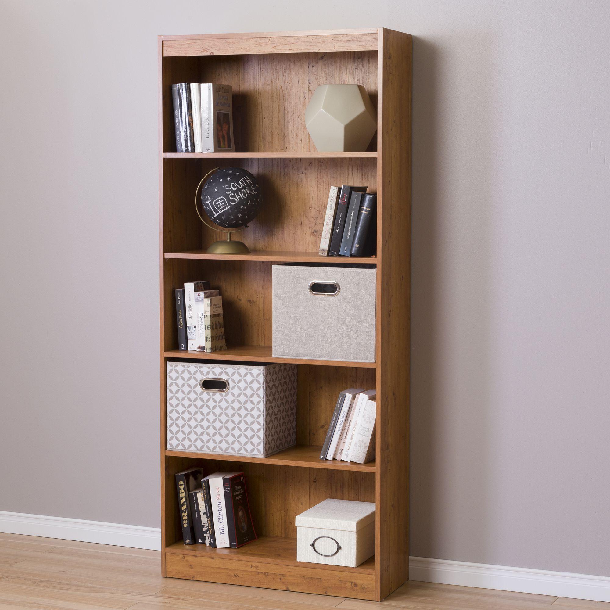 Nebraska furniture mart · otros cuartos · almacenaje de oficina ikea hackear south shore axess 5 shelf bookcase country pine orange estanterías