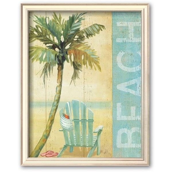 Decor Wall Art Beach Scenes Picture Wood Framed. Home Design. Home ...