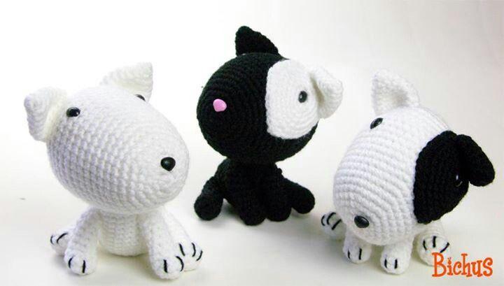 Three bull terrier | Stuff I want to make | Pinterest | Hunde