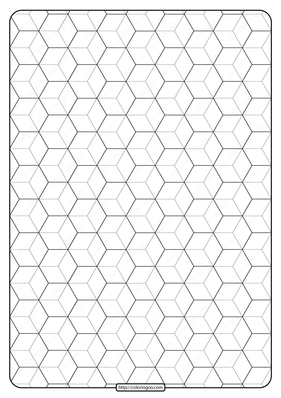 Free Printable Geometric Pattern Pdf Book 008 Em 2020
