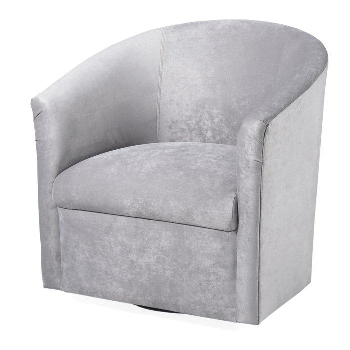 Marvelous Galen Swivel Barrel Chair By Latitude Run Color Silver Pdpeps Interior Chair Design Pdpepsorg