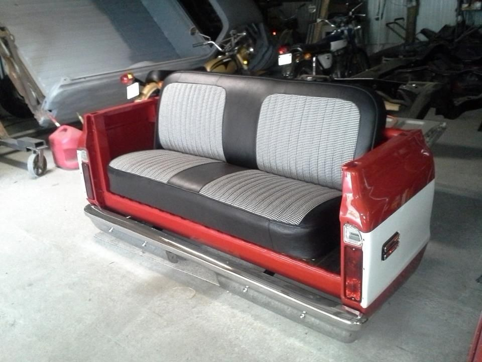 1972 Chevy Pickup Couch Made From A Bed Bumper And