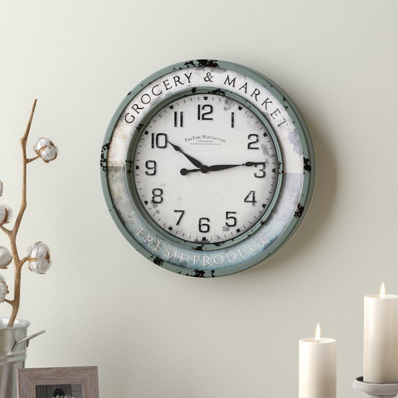 Vintage 11 Wall Clock Blue Walls Blue Wall Decor Navy Blue Wall Art