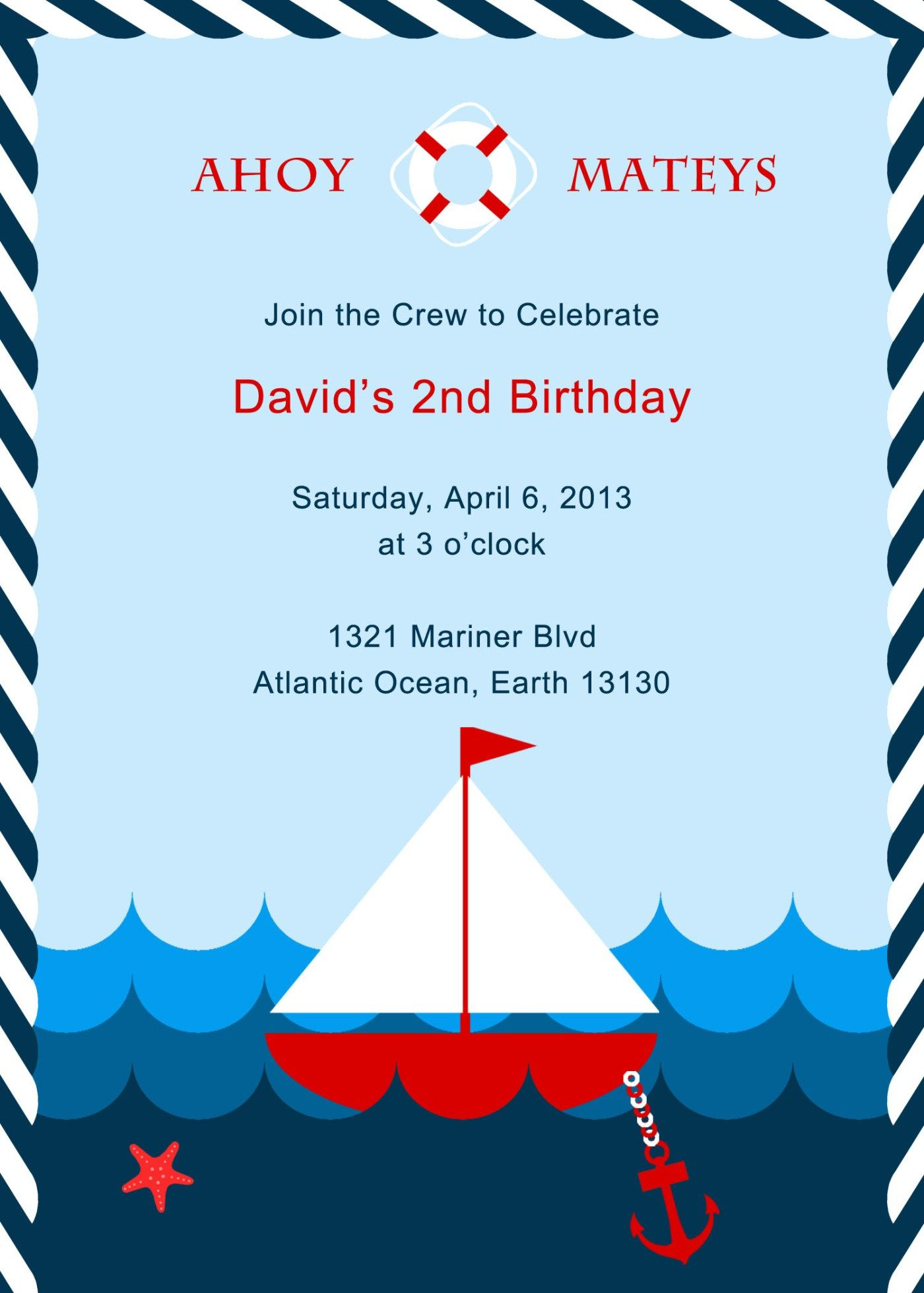 nautical invitation nautical party pinterest nautical party