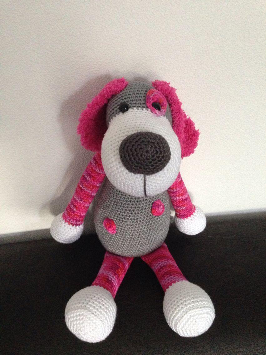 Hond Boris Naar Een Patroon Van Stip En Haak Crochet Toys