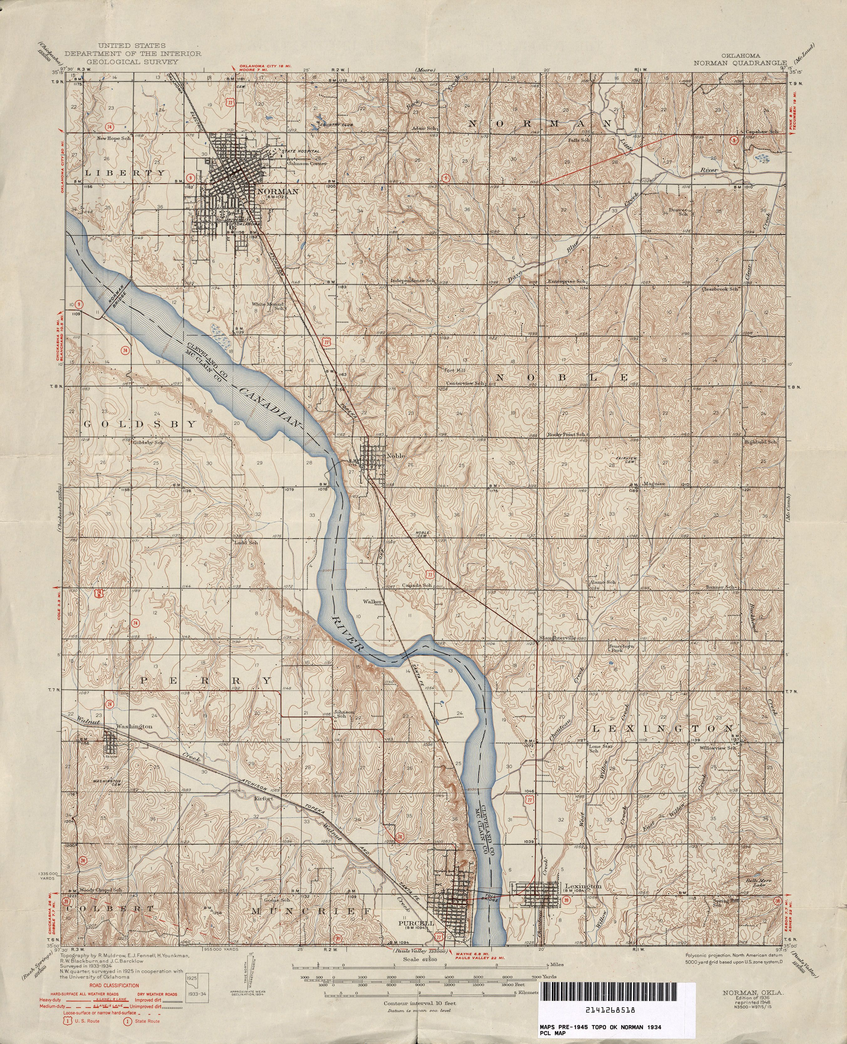 Oklahoma Historical Topographic Maps | Mappy | Pinterest ...