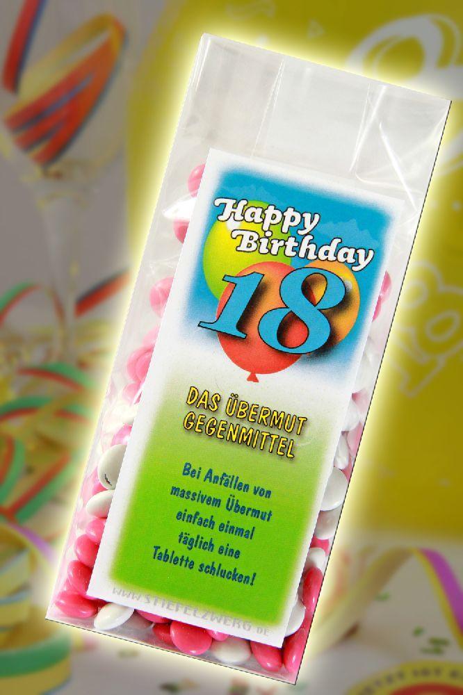 Bermut gegenmittel zum 18 geburtstag gefeiert und - Pinterest 18 geburtstag ...