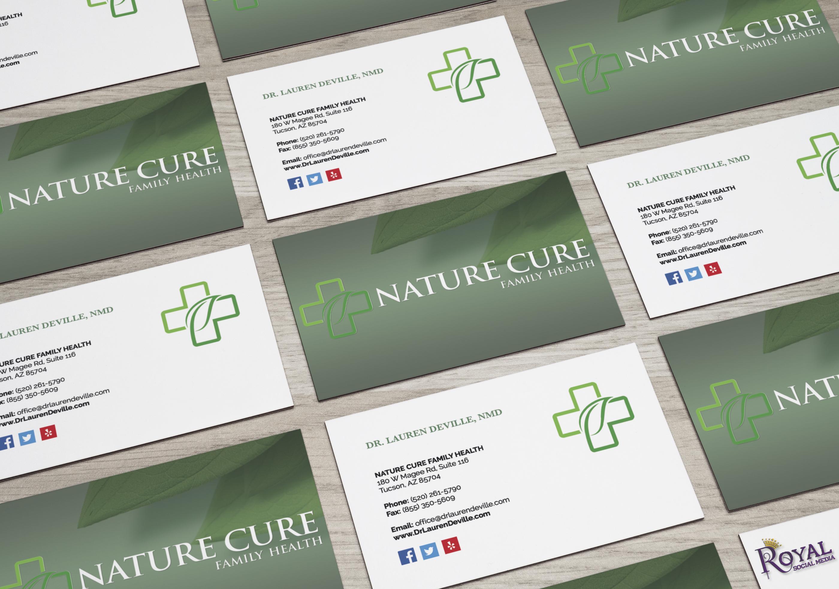 Client business card design for dr lauren deville doctor royal business cards colourmoves