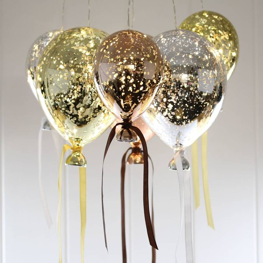 hanging mirrored metallic balloon