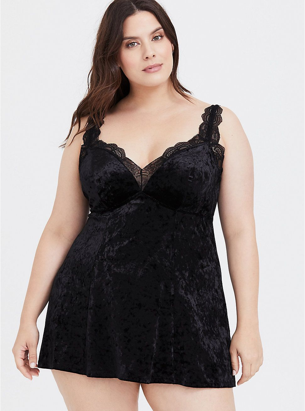 27716989a419f Black Velvet Babydoll in 2019