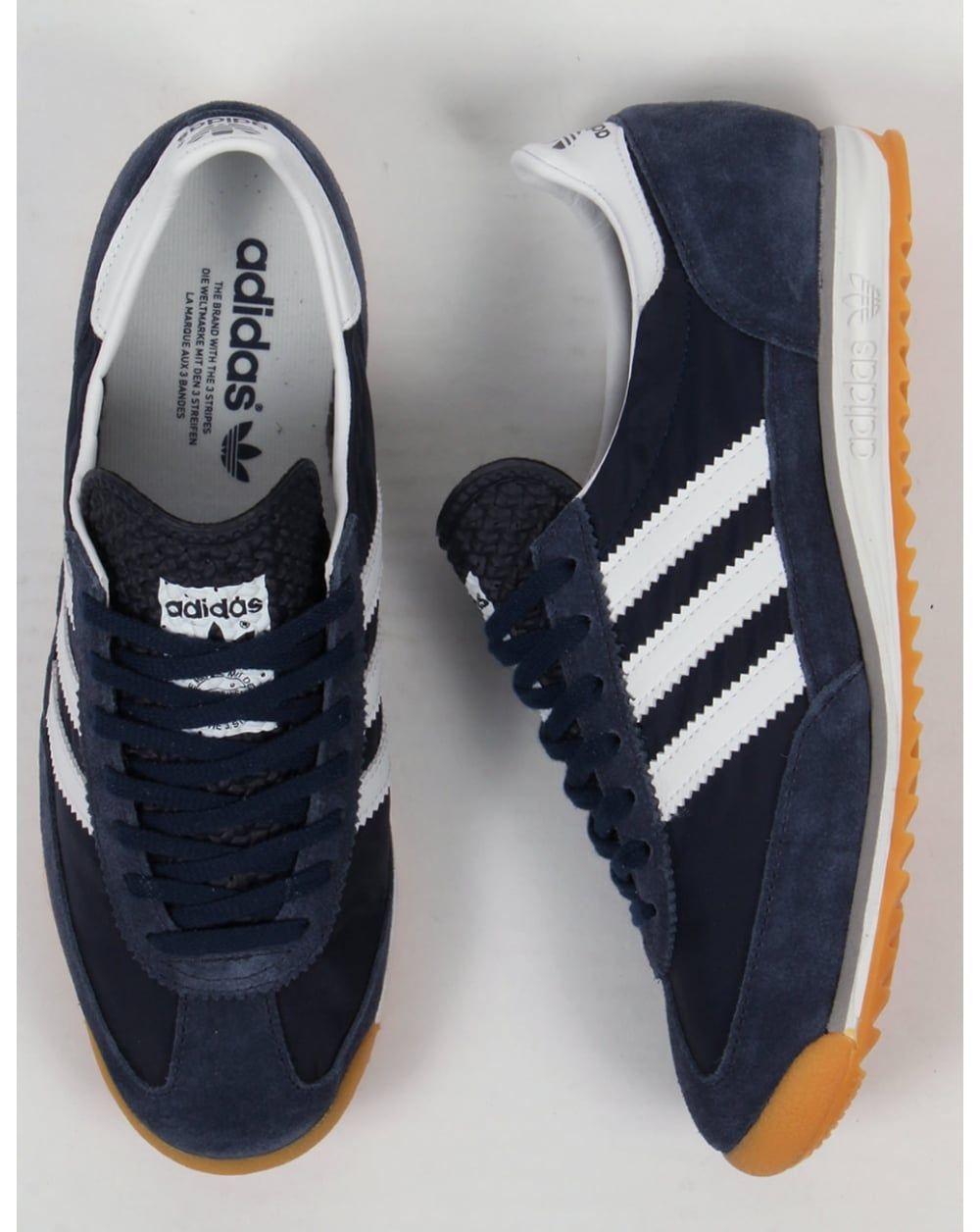 Nowe zdjęcia jak kupić kupować tanio Adidas SL 72 Trainers Navy/white in 2019 | Sneakers fashion ...