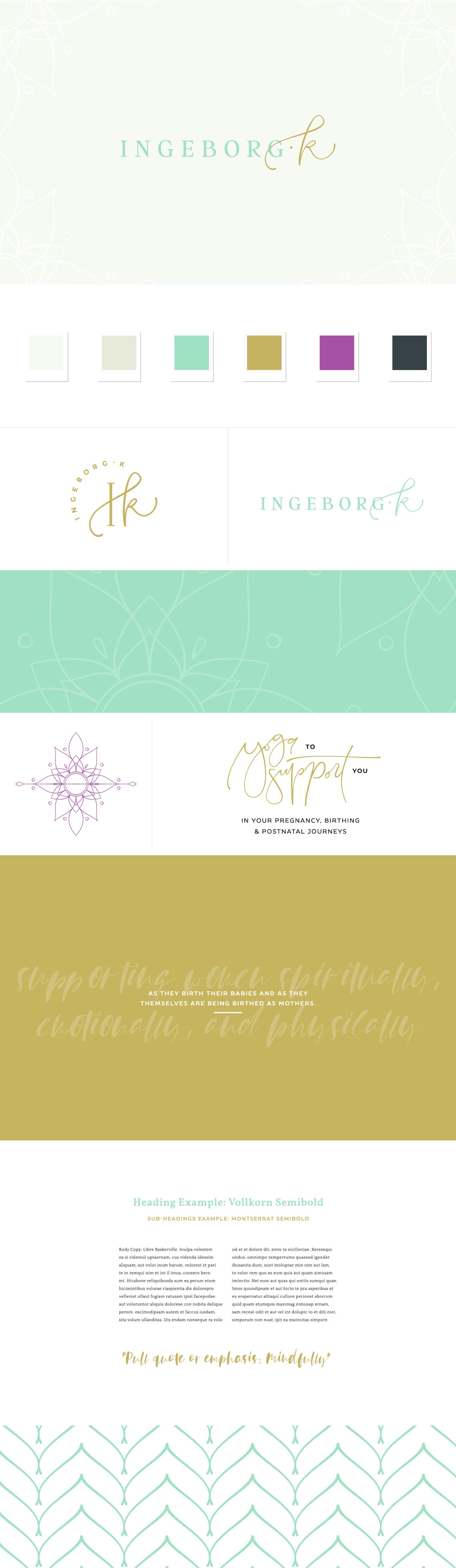 Ingeborg Style Guide Branding Design Logo Branding Design Inspiration Business Logo Design