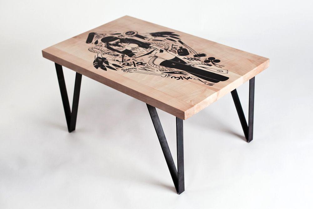 Mesa de centro o café hecha a mano ¡Hazla tu mism@!