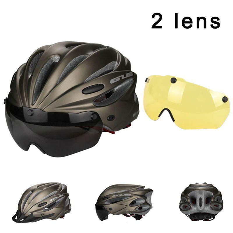 Ultralight Cycling Helmet With Visor Sunvisor Casco Bicycle