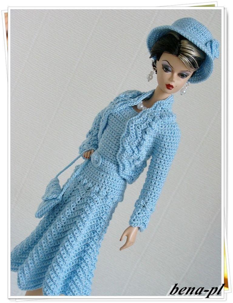 bena-pl Clothes for FR Victoire Roux, Silkstone, Vintage Barbie OOAK outfit…