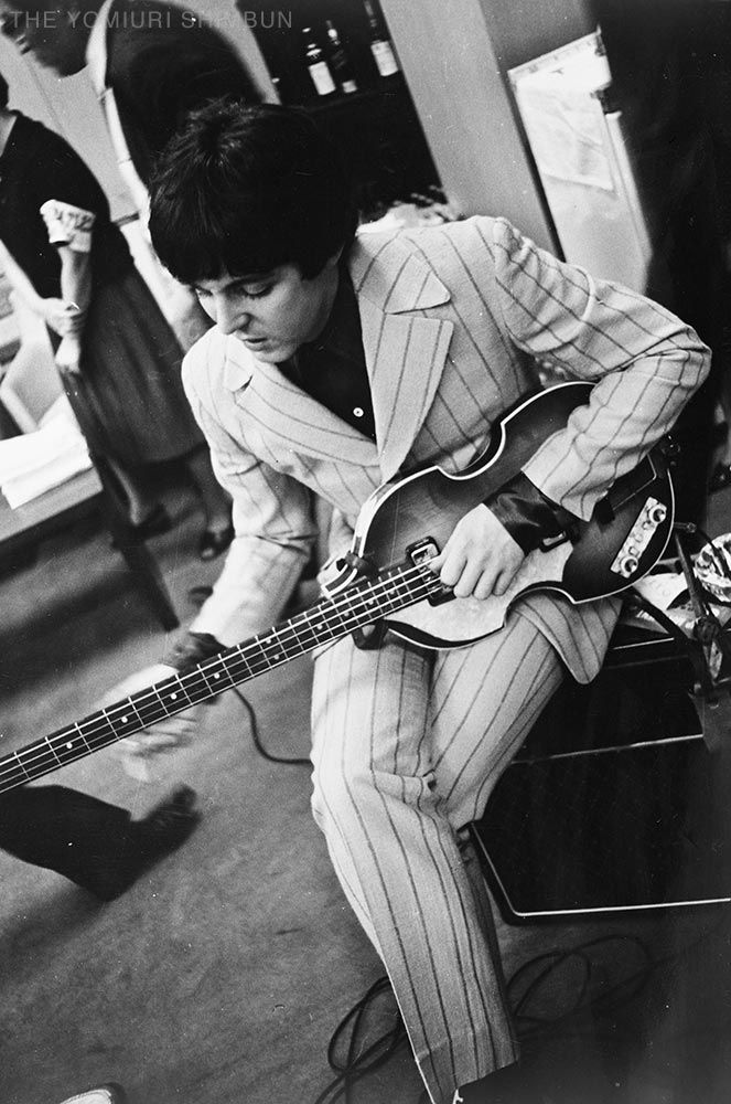 July 1, 1966 Paul McCartney backstage at the Budokan Hall Tokyo, Japan, during the Beatles tour of Asia