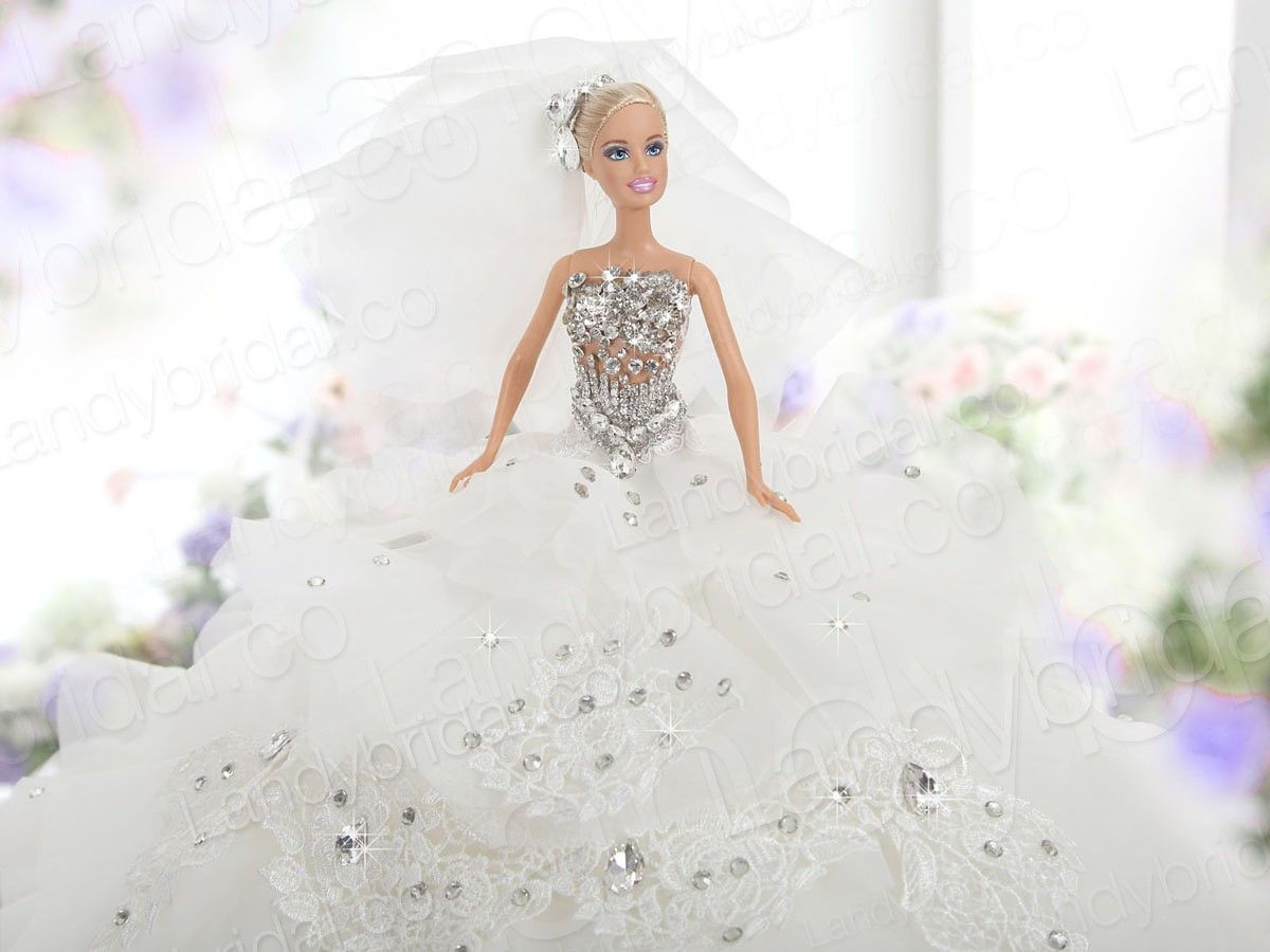 barbie bridal wedding gowns | gorgeous-ball-gown-barbie-doll ...