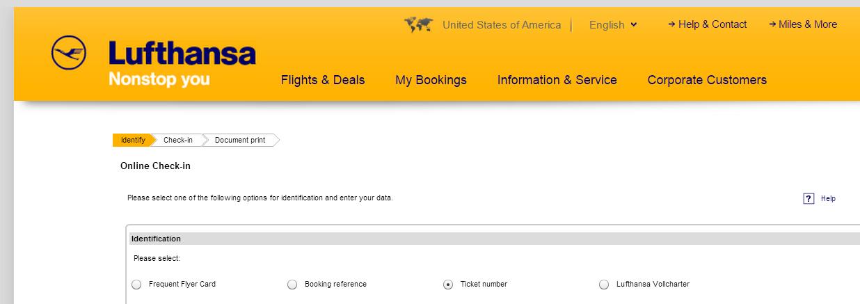 Lufthansa online check in