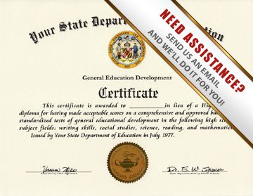 Buy fake GED diploma & certificate online from the state of your ...