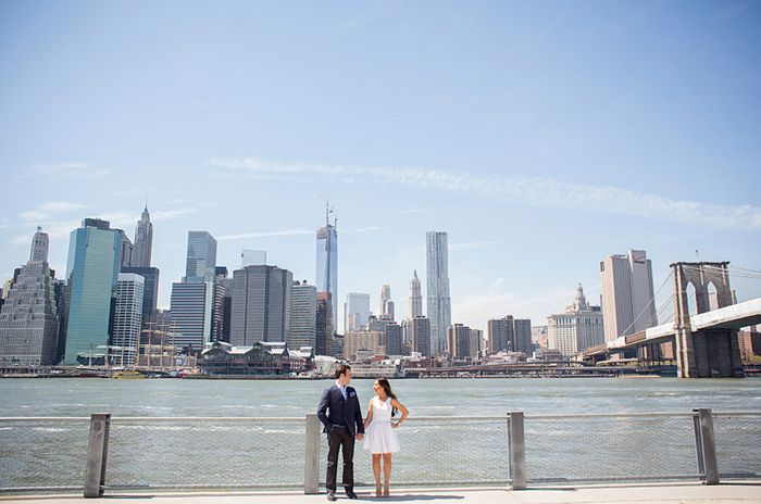 Urban Spring Engagement Session in New York City | Images by Captured Photography by Jenny | Via Modernly Wed | 01
