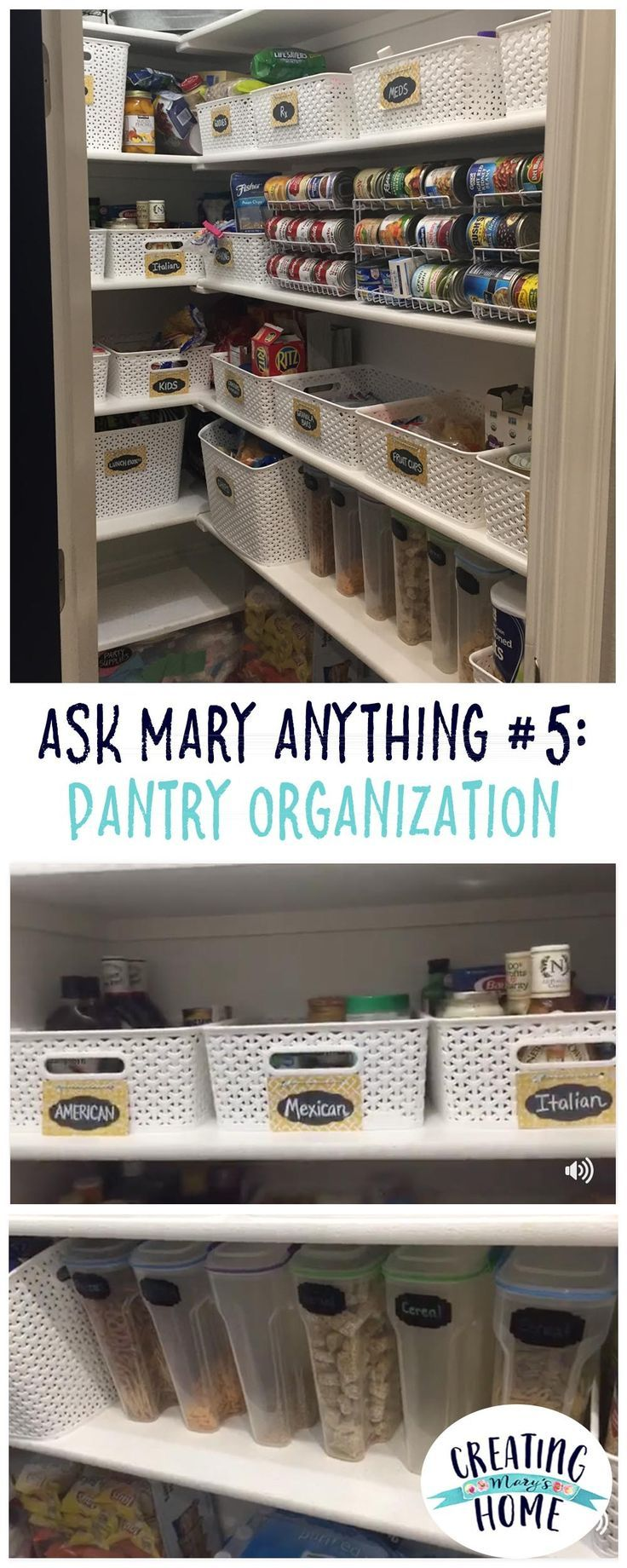 Ask Mary Anything #5  Pantry Organization  Creatingmaryshome Stunning Kitchen Organization Ideas Design Decoration
