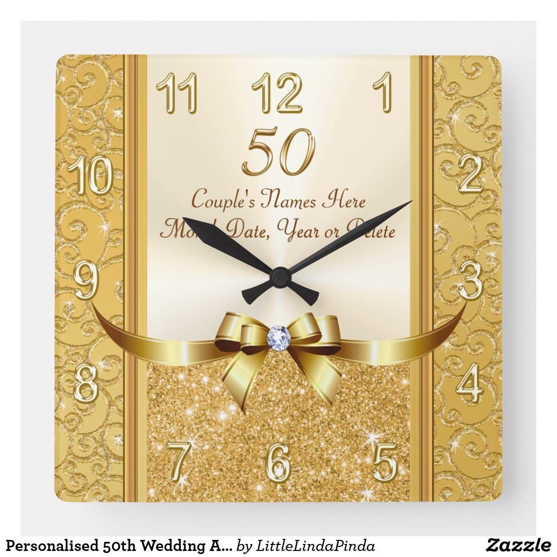 Personalised 50th Wedding Anniversary Gifts Clock Zazzle Com 50 Wedding Anniversary Gifts Golden Anniversary Gifts Fiftieth Wedding Anniversary Gifts