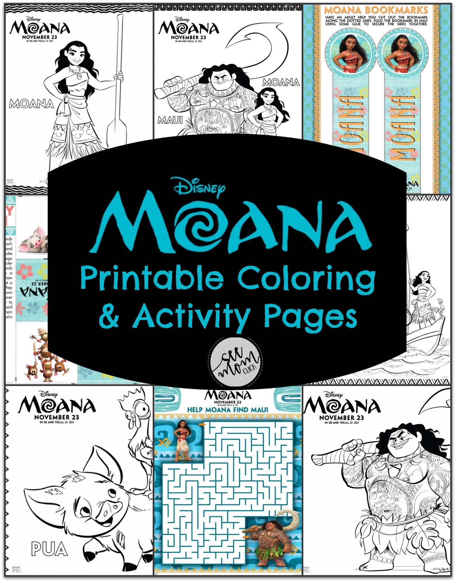 Disney\'s MOANA Printable Coloring Pages   Disney, Niño y Amor