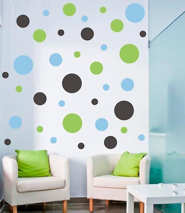 Decorando as paredes com bolinhas no estilo DIY Diseños de pared