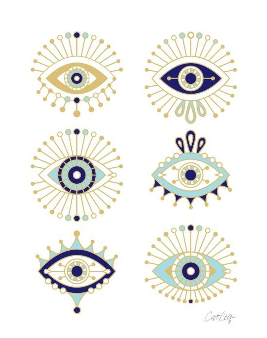 Evil eye collection sticker by cat coquillette