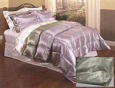 Image result for lavender satin quilted comforter