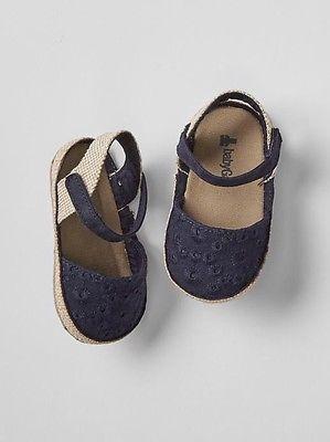 8cbb649e9e8e GAP Baby Girl Size 6-12 Months NWT Navy Blue Eyelet Espadrilles ...
