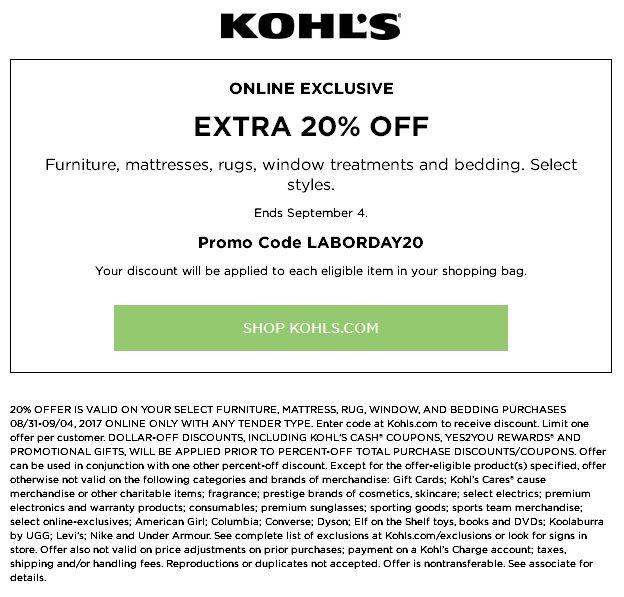 Kohls Printable Coupons
