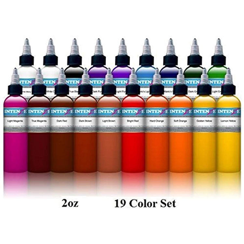 Basic 2oz color set intenze tattoo ink 19 bottles