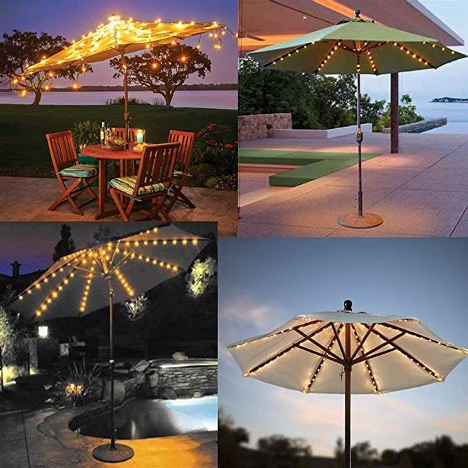 Boter Umbrella Lights Patio Led String Lights Outdoor Battery