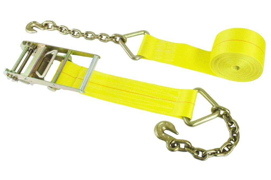 4 inch webbing ratchet assembly with chain hooks ratchet