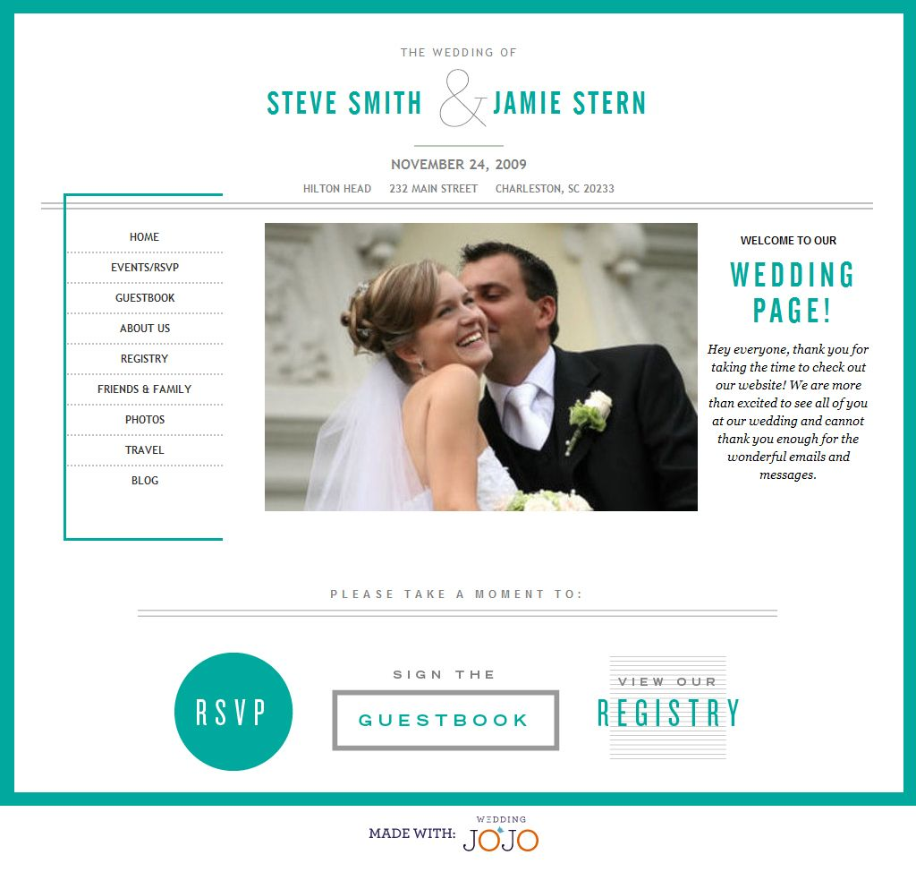 Pretty Wedding Websites | Wedding | Pinterest | Wedding, Wedding ...