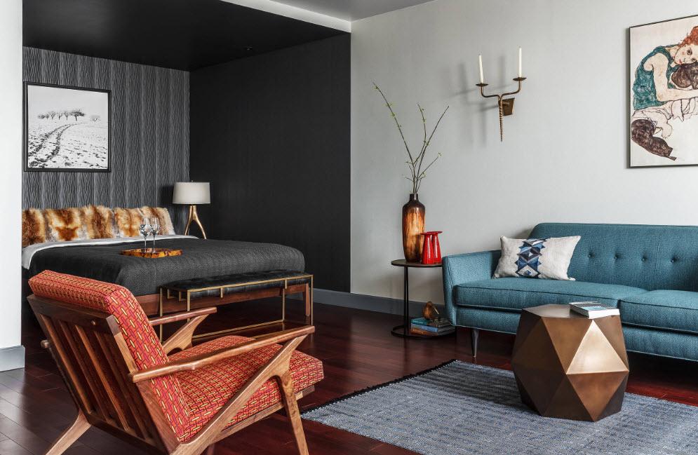 Дизайн гостиной-спальни: 100 фото идей, особенности ...