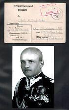1941 Polish General Jan Sadowski POW Camp Postcard Cover Oflag 8E Germany to USA