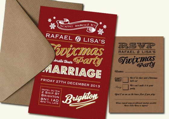 1000 images about Wedding Invitations – Wedding Invitations Christmas
