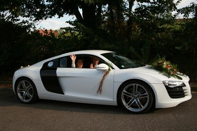 hire wedding car: White Audi R8 - quite cute ! | Location ...