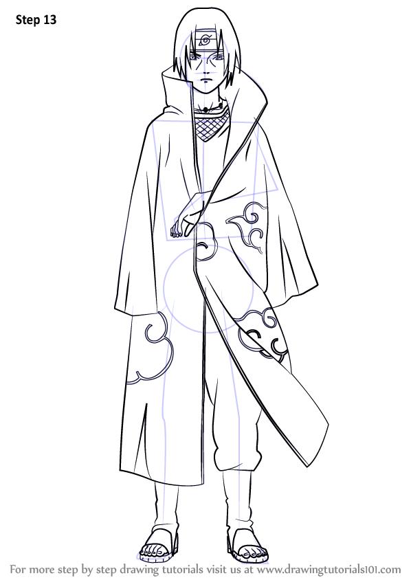 How to Draw Itachi Uchiha from Naruto