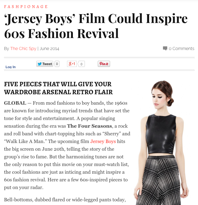 MISSION: Jersey Boys film could inspire 60s #fashion revival! #style http://thechicspy.com/index.php/jersey-boys-inspire-60s-fashion