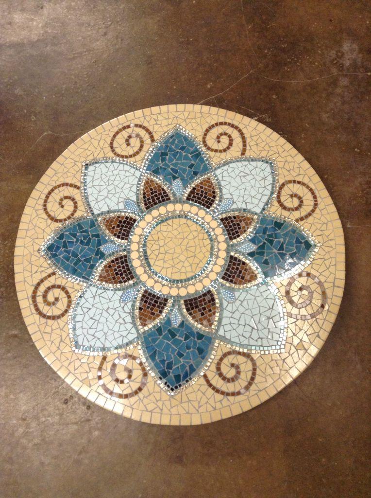 Mosaic Lazy Susan By Lisa B S Art Studio Tampos De Mesa Em