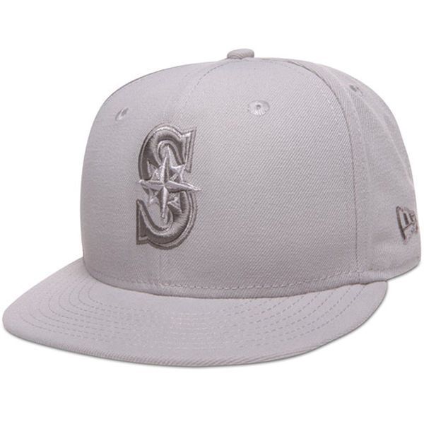 buy popular 38a32 2eec4 ... denmark mens seattle mariners new era tonal pop basic gray 59fifty  fitted hat 43806 5988c